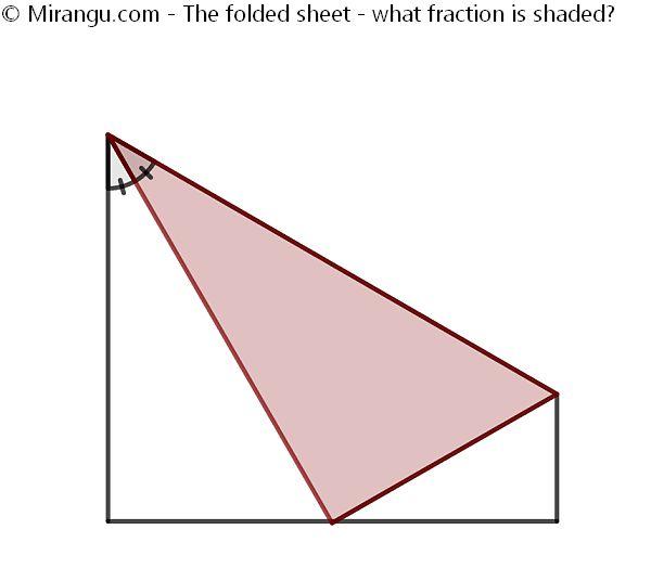 The folded sheet