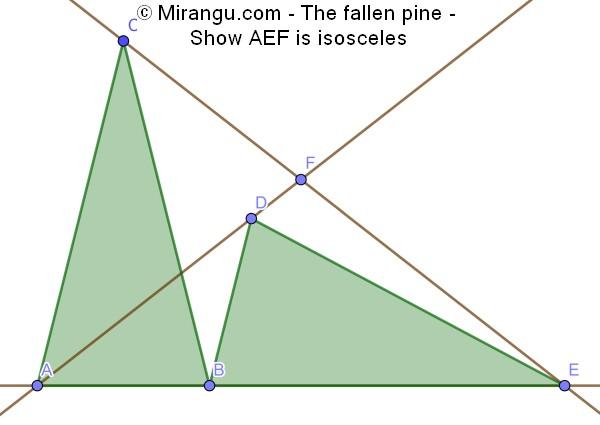 The fallen pine