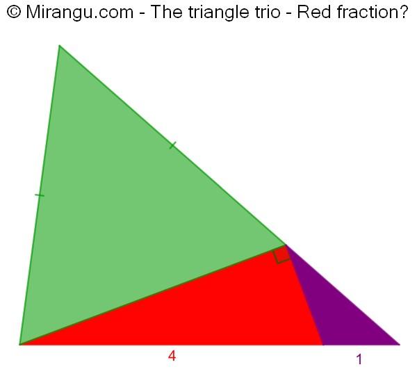 The triangle trio